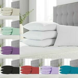 4 x Pillow Cases Pair 100% Egyptian Cotton 200TC Housewife Bed Pillows Covers