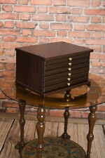 NEW Coin Cabinet Tray Collection for 6 Trays Perfect for Coins Medals Dark Brown