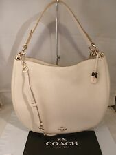 NWT COACH NOMAD HOBO IN GLOVE TANNED CHALK WHITE LEATHER HANDBAG 36026