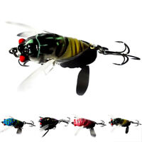 1Pc Cicada Bass Insect Fishing Lures 4Cm Crank Bait Floating Tackle B Jf