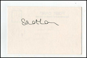 Sue Lyon Lolita Stanley Kubrick Original Hand Signed Autograph Card & COA