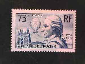 FRANCE 1936 Rozier Anniversary 75c blue. MH