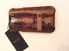 BNWT 100% Auth Paul Smith MINI Calf Leather coated SAMSUNG GALAXY S4 PHONE CASE