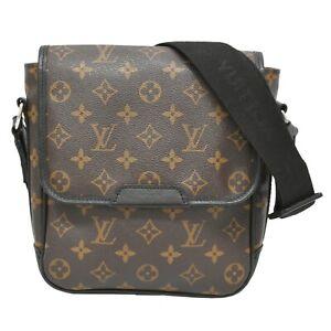 Louis Vuitton Bus PM Monogram Makassar Crossbody Shoulder Hand Bag Brown Silver