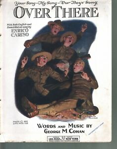 Over There World War I Large Format Norman Rockwell Cover Eng & Fr Sheet Music