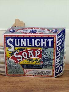 Sunlight soap advertising enamel sign