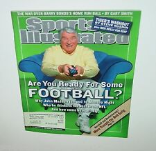 John Madden, Sports Illustrated SI Magazine, NFL Monday Night Football