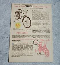 STRICKER Fahrrad Fahrradfabrik Werbekarte Postkarte 1956 Herrenrad Modell 300