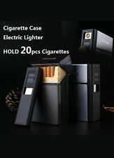 FOCUS Cigarette Case Box Lighter with Flameless Removable Electronic Lighter
