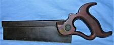 "Antique Eagle Henry Disston 8"" Dovetail Back Saw Split Nut"