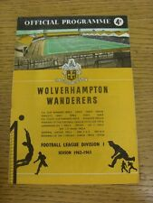01/10/1960 Wolverhampton Wanderers v Tottenham Hotspur [Double Season] (folded,