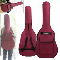 40/41'' Double Straps Padded Electric Acoustic Guitar Bag Gig Case Soft 600D