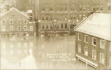 Montpelier VT State & Main Flood 1927 Real Photo Postcard