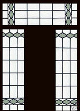 Antique Stained Glass Windows EDWARDIAN ENTRY SET OF 3