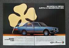 G189-Advertising Pubblicità - 1982 - ALFA ROMEO ALFETTA 2.0 QUADRIFOGLIO ORO