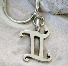 Pewter Gemini Astrology Zodiac Sign KEYCHAIN Key Ring