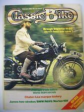 Classic Bike Magazine. No. 49. February, 1984. Chater-Lea marque history BMWR69S