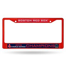 Boston Red Sox 2018 World Series Champions RED Metal Chrome License Plate Frame