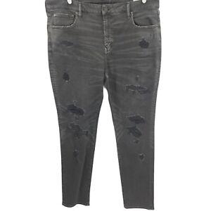 American Eagle Mens AirFlex Gray Denim Jeans Adult Straight Casual 40x34 NWT