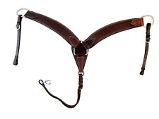 HARNESS LEATHER BREAST COLLAR TOOLED LEATHER DARK BROWN HORSE TRAIL PLEASURE