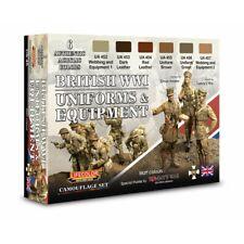 Lifecolor CS45 British WWI Uniforms & Equipment 6x22 ml (100ml=13,64€)