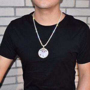 "Custom Made Photo Pendant 18"" - 30"" Necklace Tennis Rope Cuban Chain Hip Hop Men"