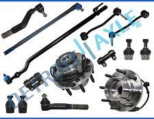 New 14pc Front Wheel Hub & Bearing Suspension Kit - SRW Coarse Thread 4x4 w/ABS