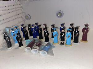 Lot Of 23 Vintage Plastic Graduation Boy / Girl Figures Cake Toppers