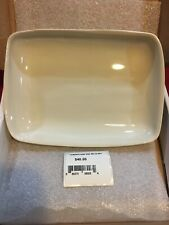 Waterworks White Rectangle Soap Dish Bathroom Decor Ceramic New