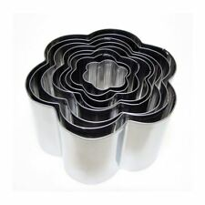 Eddingtons Flower/Daisy Cookie Cutter Set of 8 Pastry/Biscuit Metal Cutter