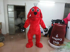 Red Dog Mascot Costume Suits Party Fancy Dress Foam Head Halloween Kawaii Outfit