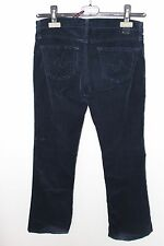 ADRIANO GOLDSCHMIED AG WOMENS THE ANGEL NAVY BLUE BELL BOTTOM CORDUROY PANTS 26R