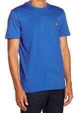New Mens Lyle & Scott T Shirt Short Sleeve Lake Blue Size L