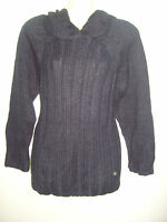 Ladies/girls soft touch chunky navy blue jumper ANIMAL hoodie Size 12 14,16