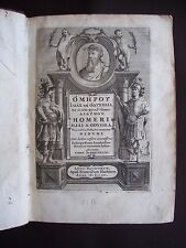 Homeri Ilias & Odyssea. Et in eafdem fcholia, five interpretatio Didymi