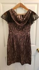 Bloomingdale's Black Lace Cocktail Dress Size 6