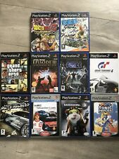LOT 10 JEUX GTA SAN ANDREAS DBZ 2 STARWARS WRC NEED FOR SPEED SONIC PS2 FRANÇAIS