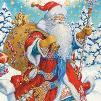 Modern Postcard Santa Claus Christmas New Year Unposted Russian Art Anton Lomaev