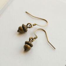 Small Acorn Earrings Drop Dangle Woodland Forest Nature Jewellery Gifts For Her