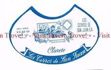 Unused 1940s URUGUAY Montevideo Los Cerros de San Juan Clarete Wine