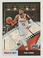 2019-20 Panini NBA Hoops LIGHTS CAMERA ACTION HOLO FOIL PARALLEL #5 PAUL GEORGE