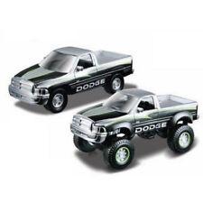 Assembly Line Lifters Silver & Black Dodge Ram Metal Kit Model