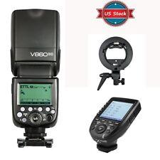 US Godox V860II-C 2.4G TTL HSS Speedlite +Xpro-C Trigger +Flash Holder For Canon