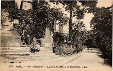 CPA Paris 18e Vieux Montmartre L'Entrée du Chateau des Brouillards (284533)
