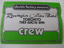Rossington Collins Band - backstage CREW pass -Spectrum in Philadelphia
