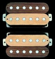 Guitar Part GUITARHEADS PICKUPS LUMBERBUCKER HUMBUCKER Wood SET 2 - MAPLE WALNUT