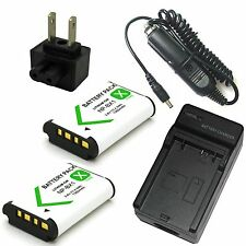 Charger+2x Battery for Sony HDR-PJ240 HDR-PJ270 Digital HD Video Camera Recorder