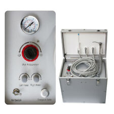 New Listingdental Portable Delivery Unit Led Oilless Air Compressor Suction System 65lmin