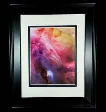 Hubble Telescope: Orion Nebula Gas Dust Turbulence Print (Matted & Framed NEW)