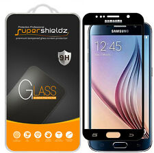 2X Supershieldz Samsung Galaxy S6 Full Cover Tempered Glass Screen Protector